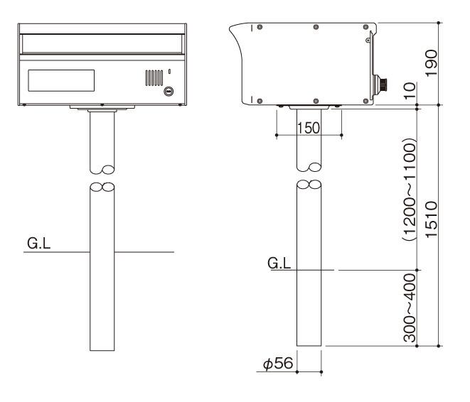アルメールDUAL1型-スタンドセットΦ56
