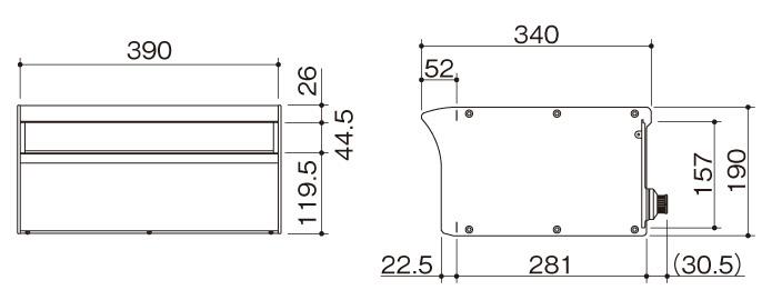 アルメールDUAL1型 商品サイズ