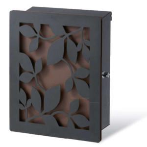 ポスト本体:ブラック・カラーパネル:錆茶・装飾パネル:ローリエ/ブラック