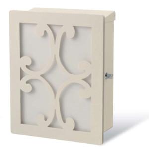 ポスト本体:ホワイト・カラーパネル:ホワイト・装飾パネル:クロス/ホワイト