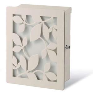 ポスト本体:ホワイト・カラーパネル:ホワイト・装飾パネル:ローリエ/ホワイト