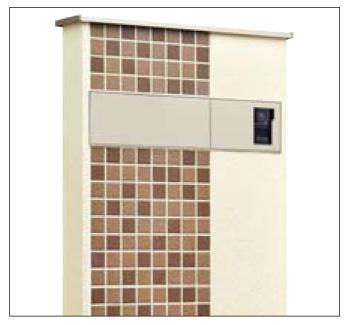 アートウォール門柱S1型Aタイプ 埋めるだけの簡単施工