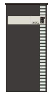 アートウォール門柱S1型Aタイプ 本体012+ホワイト