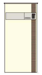 アートウォール門柱S1型Aタイプ 本体406+ダークブラウン