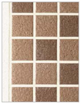 アートウォール門柱S2型(Bタイプ) ブラウン