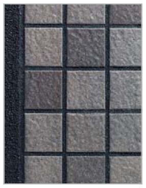 アートウォール門柱S2型(Bタイプ) ブラック (2)