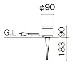 エクステリアライトGLD1型 据付図