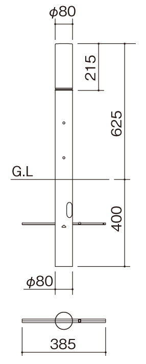 エクステリアライトGLP1 サイズ