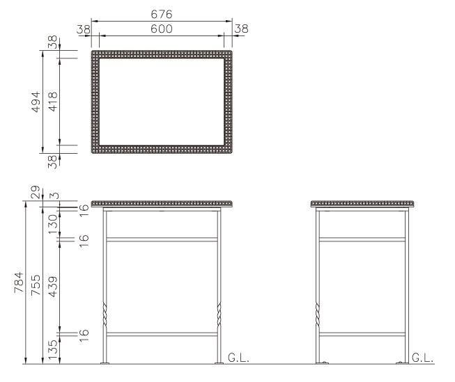 ガーデンテーブル ロココ クローバー サイズ