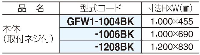 ガーデンフローラ面格子1型 型式コード