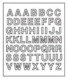 キャット&ドッグポスト アルファベットシール