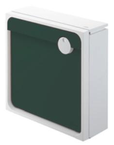 クオール壁付タイプ大型郵便物対応 ホワイト×グリーン