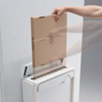 クオール壁付タイプ大型郵便物対応 メール便サイズの投函