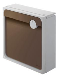 クオール壁付タイプ大型郵便物対応 ライトグレー×ブラウン