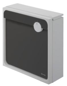 クオール壁付タイプ大型郵便物対応 ライトグレー×ブラック