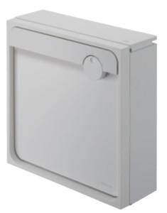 クオール壁付タイプ大型郵便物対応 ライトグレー×メタリックシルバー