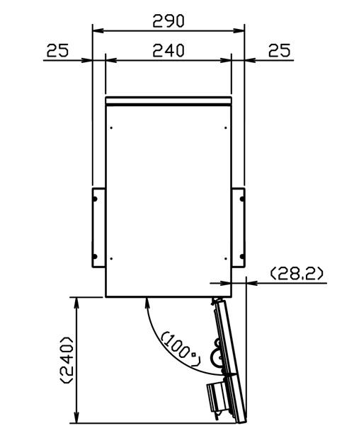 クオール宅配ボックス(REGULAR)ポールセット サイズ (2)