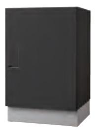 クオール据置式宅配ボックス(BIG) ブラック×ブラック