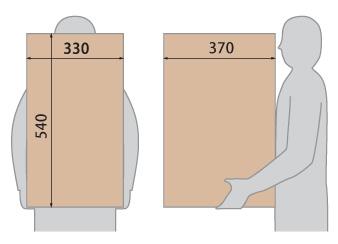 クオール据置式宅配ボックス(BIG) 受取可能サイズ