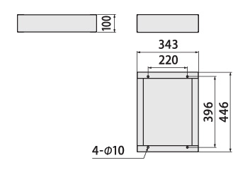 クオール据置式宅配ボックス(BIG) 幅木サイズ