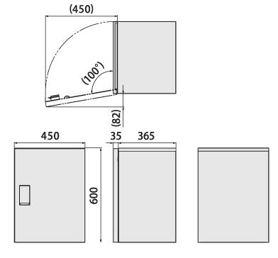 クオール据置式宅配ボックス(BIG) 本体サイズ