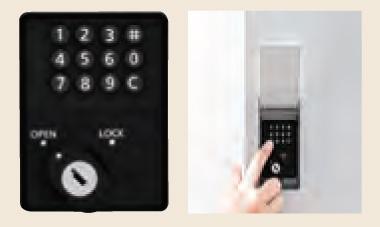 クオール据置式宅配ボックス プッシュボタン