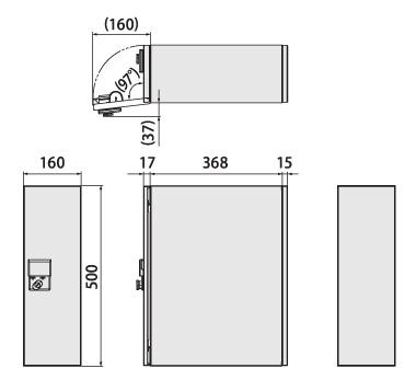 クオール据置式宅配ボックス ボックス本体
