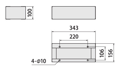 クオール据置式宅配ボックス 幅木サイズ