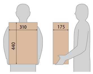 クオール据置式宅配ボックスREGULAR 受取可能サイズ