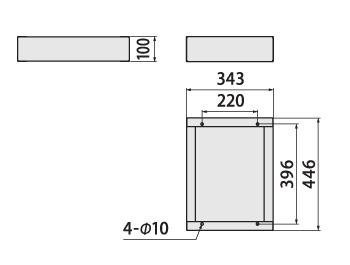 クオール据置式宅配ボックスREGULAR 幅木サイズ