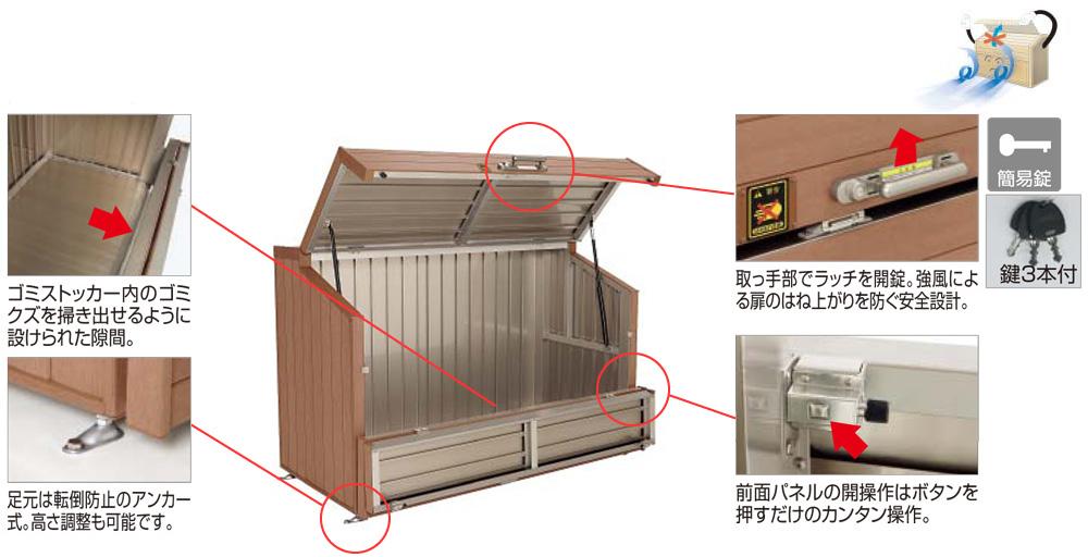 ゴミストッカーWP1型 商品特徴