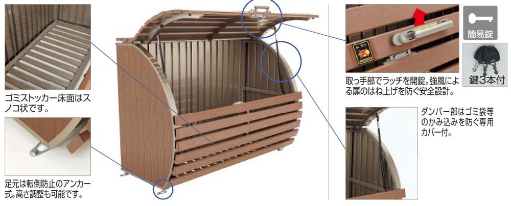 ゴミストッカーWP2型 商品特徴