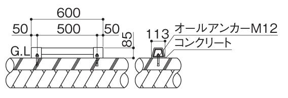 サインストッパーMY2型 据付図