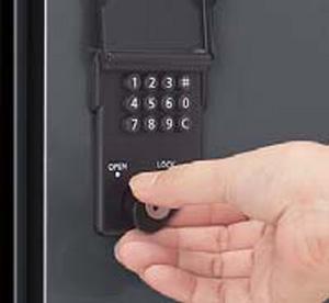 ソネット門柱1型 プッシュボタン錠