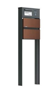 ソネット門柱1型 マロンブラウン