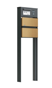 ソネット門柱1型 ライトブラウン