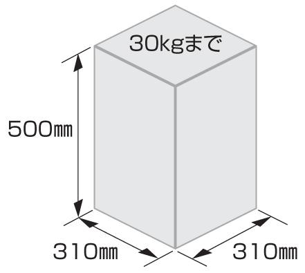 ソネット門柱1型 受取可能サイズ