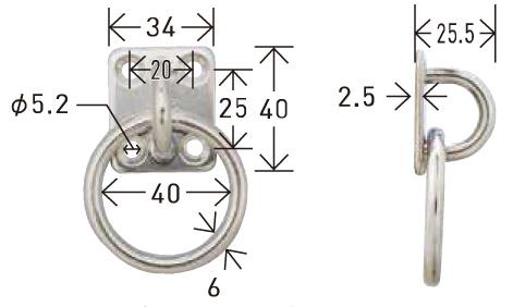 テンデ専用オプションテンデ丸カンプレートPR-6 サイズ (2)