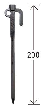 テンデ タフネスベースペグ 20cm サイズ (2)