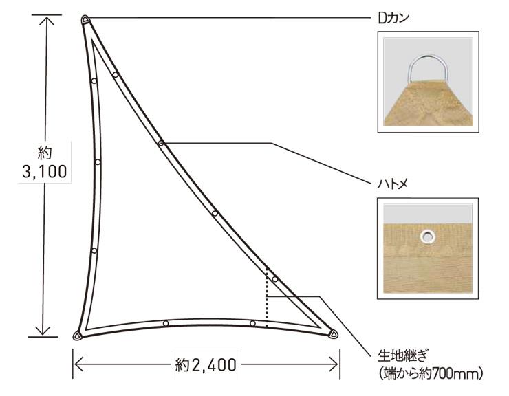 テンデ タープ トライアングルS イメージ
