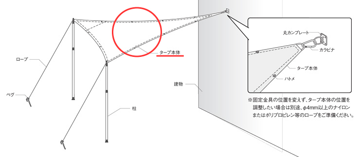 テンデ タープ 使用イメージ (2)