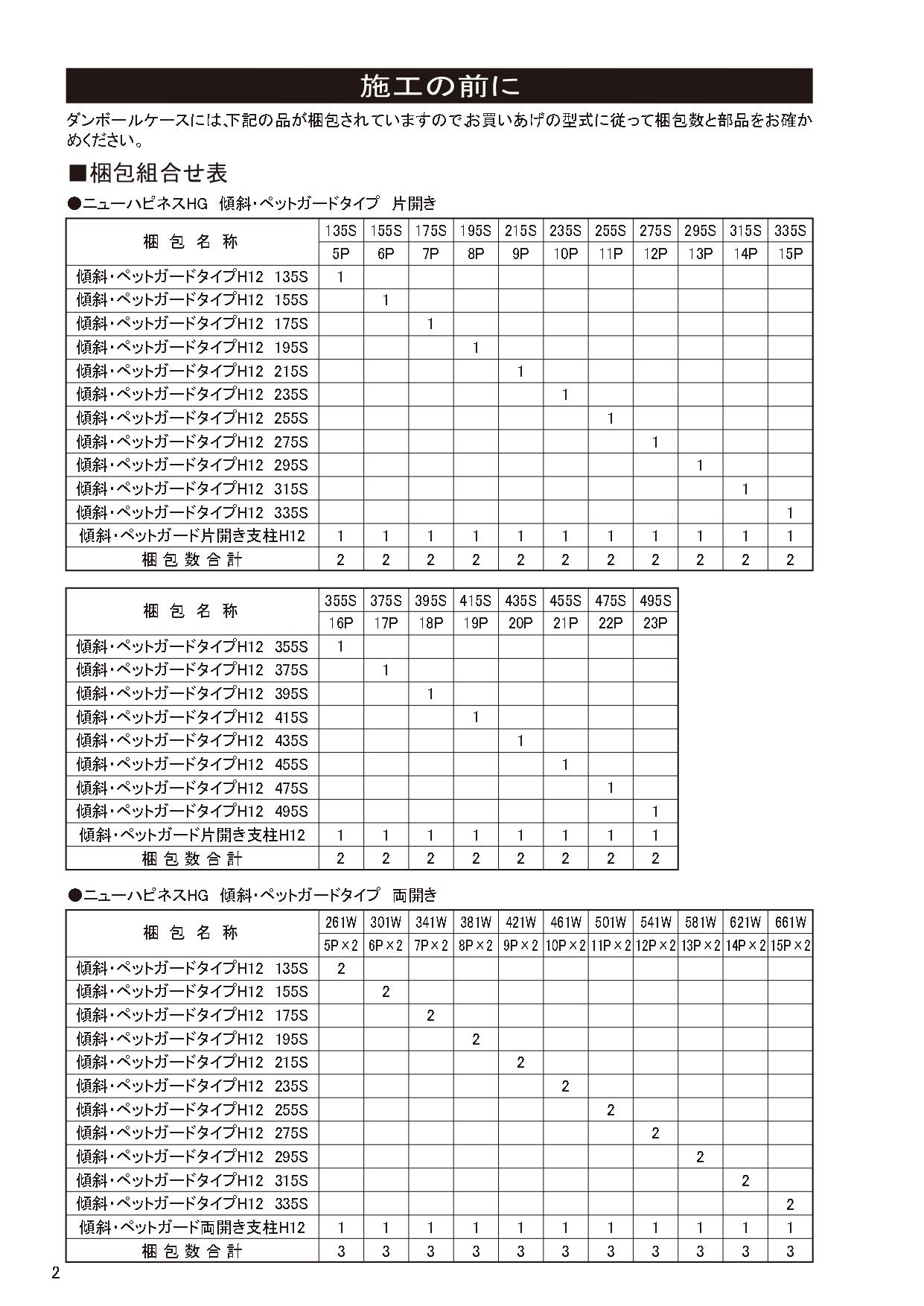 ニューハピネスHG 傾斜・ペットガードタイプ 施工説明書_page-0002