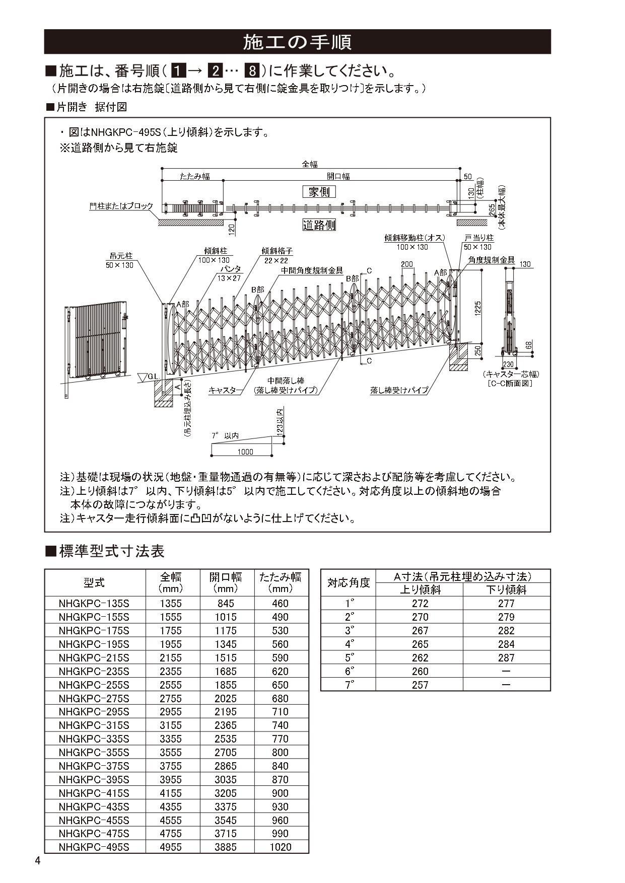 ニューハピネスHG 傾斜・ペットガードタイプ 施工説明書_page-0004