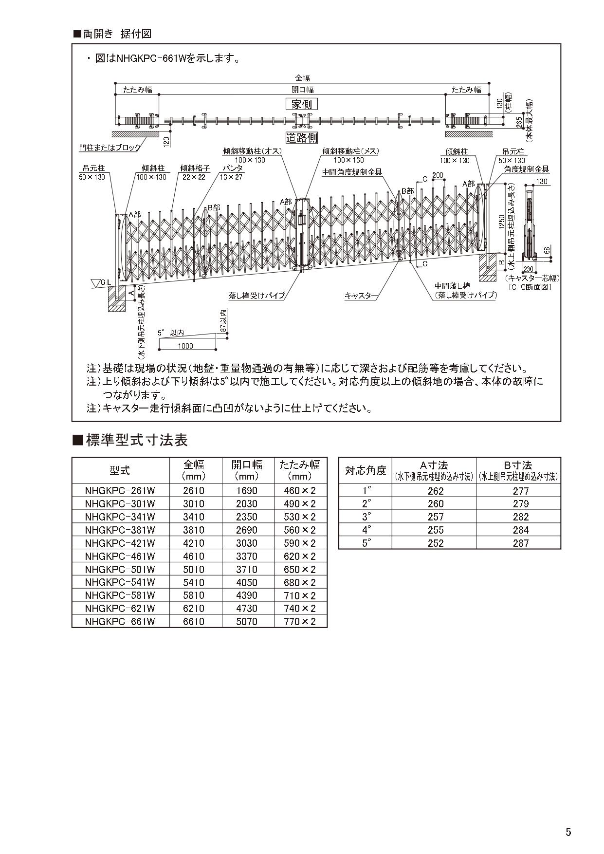 ニューハピネスHG 傾斜・ペットガードタイプ 施工説明書_page-0005
