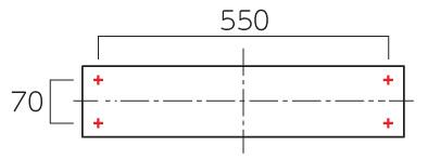 パルスTP-11・TP-21_ボルトピッチ