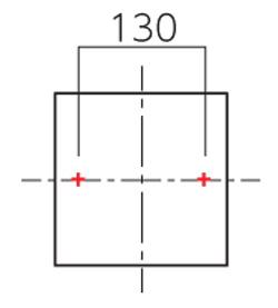 パルスTP-12・TP-22_ボルト取付ピッチ