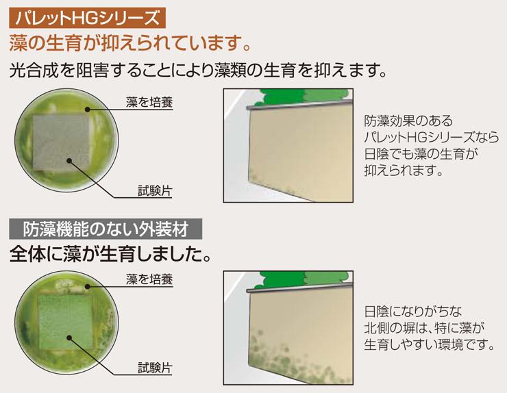 パレットHG ローラー塗りタイプ 防藻効果