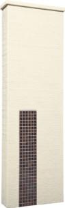 ファミアージュアクシス500×1600[本体]アイボリー[タイル]セピアブラウン