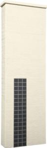 ファミアージュアクシス500×1600[本体]アイボリー[タイル]マットブラック