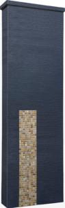 ファミアージュアクシス500×1600[本体]ダークグレー[タイル]フォンテブラウン